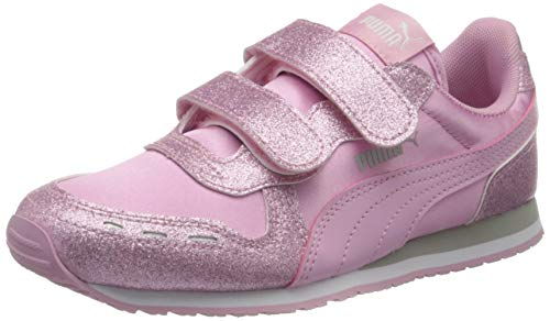 Puma Baby Mädchen Cabana Racer Glitz V Inf Sneaker, Pale Pink-Pale Pink, 20 EU