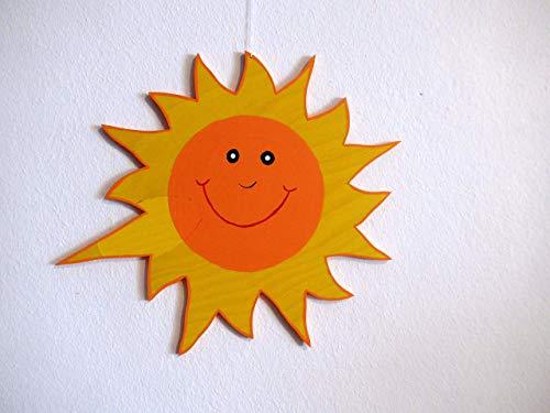 Holzmobile lachende Sonne