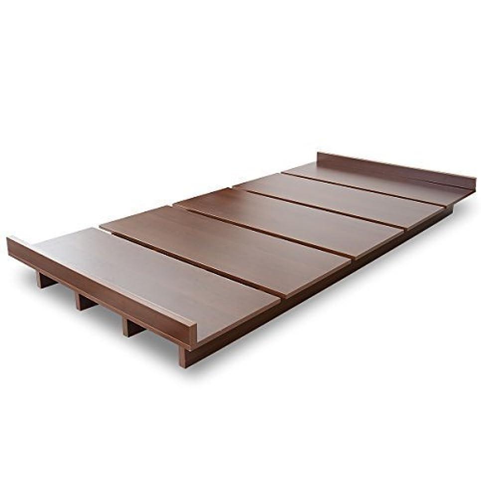 ボンド美的無許可DORIS ベッド ベッドフレーム セミダブル ロースタイル すのこ仕様 組立式 ブラウン ゼスト