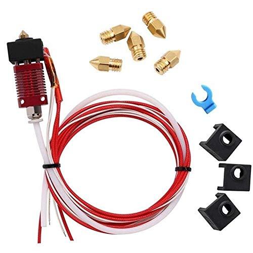 QOHFLD Accesorios de Impresora Mk10 Extruder Hot End Kit Piezas de Repuesto aptas para Creality Cr-10 Cr-10S S4 S5 Impresora 3D 1.75 Mm Filamento 0.4 Mm Boquilla (Color: Tipo 1) (Color : Type 1)