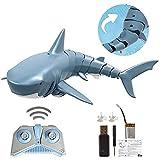 Pepional Ferngesteuertes Boot-Hai-Spielzeug, 2.4G Simulation Ferngesteuertes Hai-Boot-Elektrospielzeug, USB-Lade-Hai-Parodie-Spielzeug, Verwendet Für Pooldekoration Oder Partyspielzeug