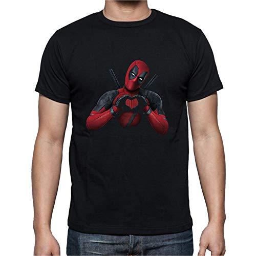 Camiseta Deadpool IMPORTANTE La tabla de medidas de Amazon es muy genérica; por favor ver en las fotografias la tabla de medidas y compárela con una camiseta que le este bien para no generar costes adicionales. Camiseta 100% algodón pre-encogido de 1...