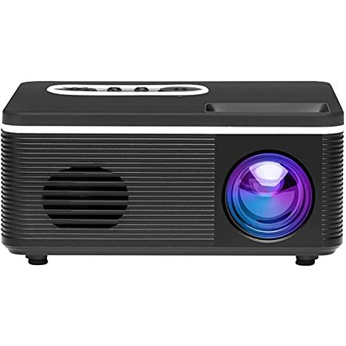 ZLQBHJ 1080p completo HD El mini proyector portátil admitido, compatible con el puerto HDMI, puede leer U disco, proyector de entretenimiento doméstico multifuncional, adecuado para el hogar y el teat