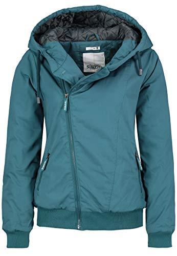 Sublevel Damen Winter-Jacke mit Kapuze warm gefüttert Green XL