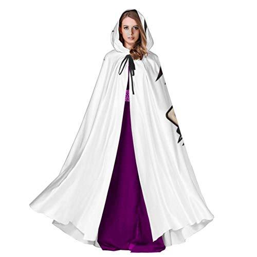 ZANSENG Grafik-Datei Halloween Hooded Robe Cloak Weihnachts Hoodies Cape Cosplay für Erwachsene Männer Frauen Party Favors Supplies Kleider Kleidung Geschenke Kostüm