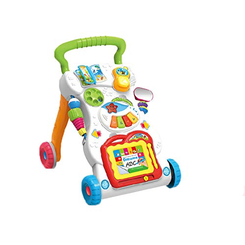 ColdShine 2 In 1 Children Baby Multifunctional Walker Bouncer Musical Toys Lights and Sounds for Children 9 Months and Older