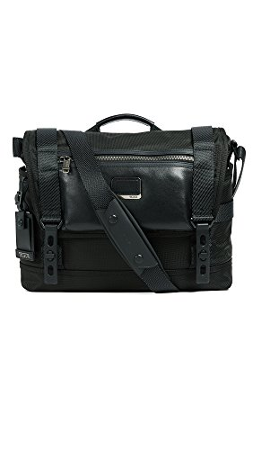 Tumi Men's Alpha Fallon Messenger Bag, Black, One Size