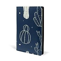 ブックカバー a5 サボテン 星空 きれい 文庫 PUレザー ファイル オフィス用品 読書 文庫判 資料 日記 収納入れ 高級感 耐久性 雑貨 プレゼント 機能性 耐久性 軽量