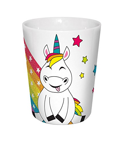 infinite by GEDA LABELS (INFKH) 15915 Licorne Multicolore v, Env. 300 ML Porcelaine Mug V Mug, Porcelaine, Multicolore, 8, 5 x 10 cm