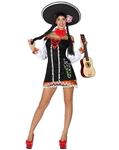 ATOSA disfraz mariachi mujer adulto vestido corto M