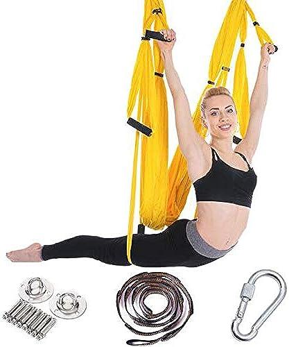 NONO Aerial Yoga Hamac 6 Poignée sans étirement Hong Kong Style Gravité Inverse Gravité Fitness avec Ceinture Et Platine De Suspension