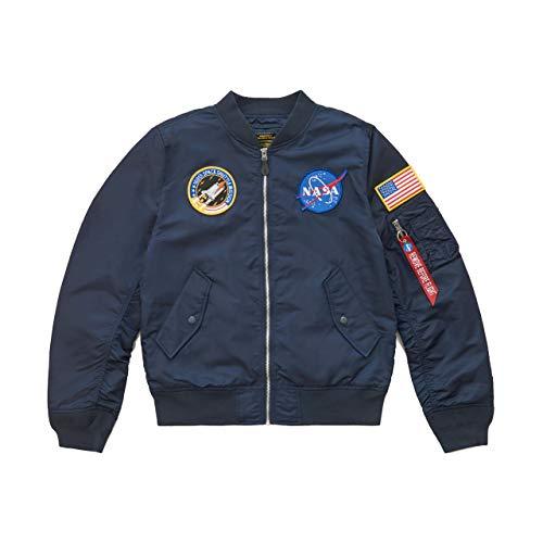 Alpha Industries Men's L-2B NASA Flight Jacket (S, Replica Blue)