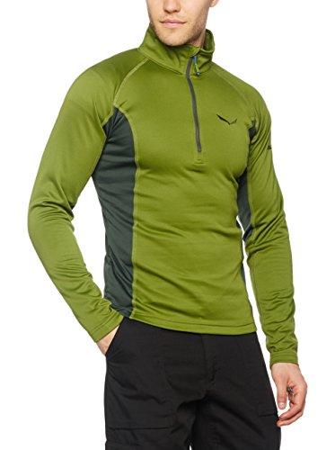 Salewa Puez (Fanes) Pl M L/S Tee - T-Shirt à Manches Longues pour Homme, Couleur Vert, Taille 48 / M