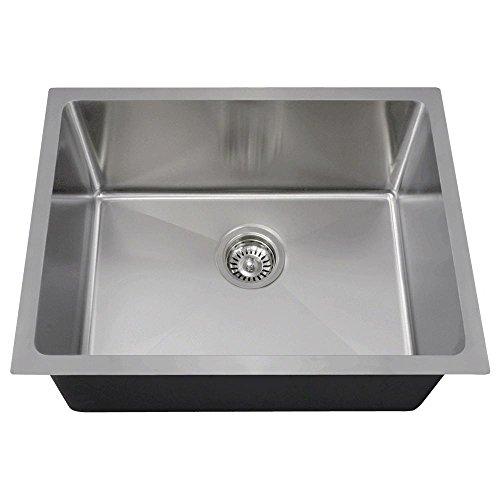 1823 18-Gauge Undermount Single Bowl 3/4-Inch Radius Stainless Steel Kitchen Sink