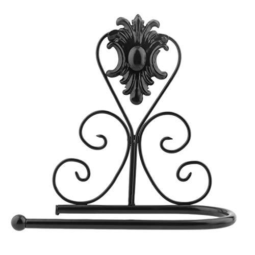 Dynamovolition Vintage Design Toalla de papel de hierro clsico Toallero Soporte de bao Aseo Montaje en pared Bastidor...