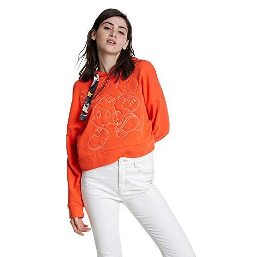 Desigual Sweatshirt Mickey Gr. M, Orange Sanguine