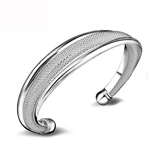 KKVK Silber Farbe Charm Open Bracelet Armreif Schmuck für Frauen A One Size
