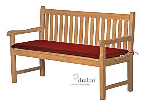 Bankauflage 130 x 40 cm, rot, dralon, waschbar ✓ lichtecht ✓ Made in Germany ✓