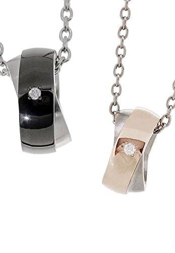 [フェフェ]fe-fe×phiten [特 別 仕 様] リング ダイヤモンド カラー ライン チタン ペアネックレス カップル お揃い シンプル ペンダント