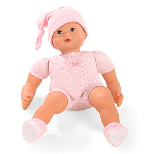 Götz 1527979 Maxy Muffin to Dress Puppe - 42 cm große Babypuppe Blaue Schlafaugen, ohne Haare - 4-teiliges Set - Weichkörper-Puppe ab 18 Monaten