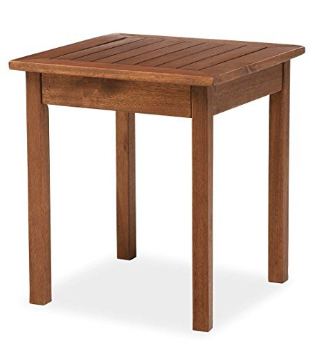 Plow & Hearth 62A36-NT Eucalyptus Wood Side Table, 18' x 20', Natural