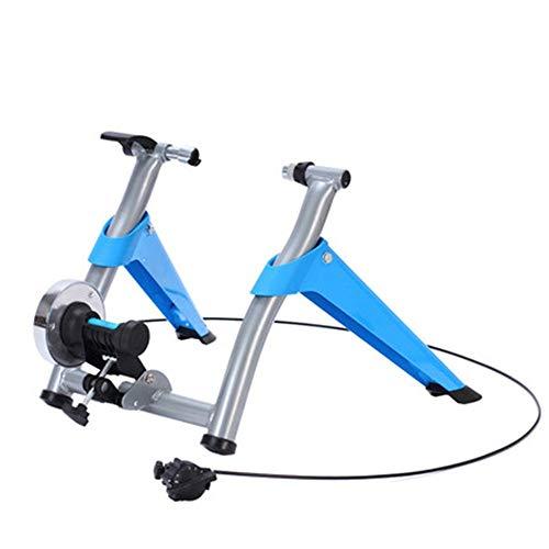 Entrenador de ciclo indoor Moto Trainer Soporte Entrenamiento de la resistencia cubierta plegable del soporte de bicicletas Ejercicio De pie, con 6 Nivel de control de velocidad de alambre Entrenador