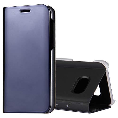 YUNCHAO Funda Protectora de para Galaxy For Samsung Galaxy A3 (2017) / A320 Espejo de galvanoplastia Horizontal Funda de Cuero con Tapa con Soporte Caja del teléfono Celular (Color : Black)