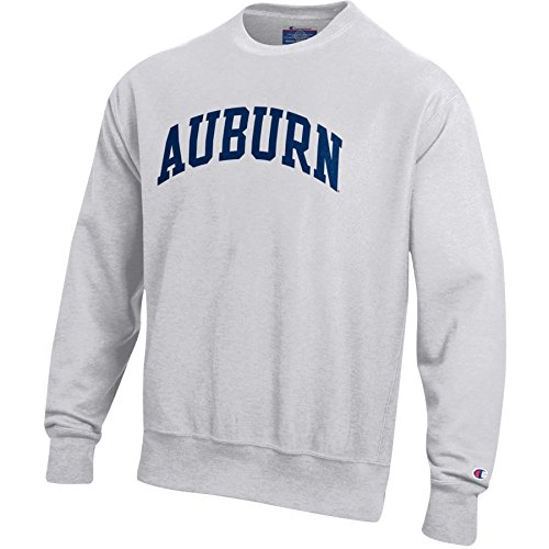 NCAA Auburn Tigers Mens Reverse Weave Crew Neck Sweat Shirt, Medium, Silver/Grey