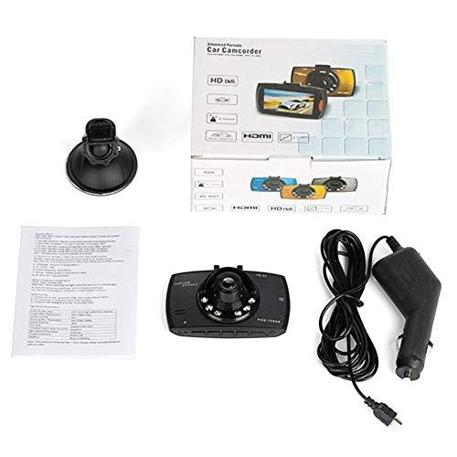 Rubyu - Cámara para Coche (2,7 Pulgadas, Pantalla LCD, Full 1080P, HD, grabadora DVR, grabación de vídeo con Objetivo Gran Angular, Doble vídeo Anterior y Posterior)