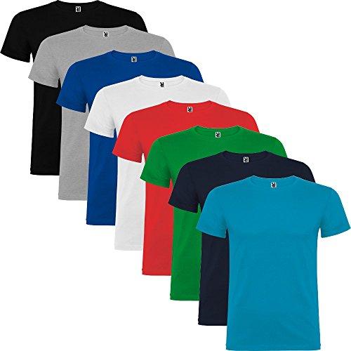 Pack de 8 Camisetas de manga corta para hombre, 100% Algodón, Beagle (L