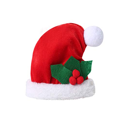 Shotbow Christmas Tissue Box Cover, Creative Christmas Hat Napkin Bag Tissue Box for Christmas Restaurant Hotel, Christmas Decorations, Restaurant Family Party Decorations (Red)