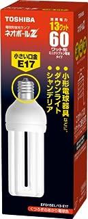 TOSHIBA ネオボールZ D形 60Wタイプ  口金直径17mm 電球色 EFD15EL/13-E17