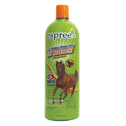Espree Aloe Herbal Horse Spray | Fly Repellent with Aloe, Sunscreen, and Coat Conditioners |Promotes a Healthy Coat and Protection from The Sun | 32 oz Concentrate