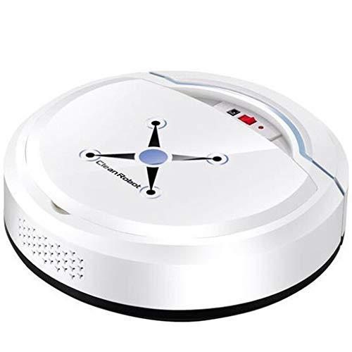 Staubsauger Roboter, Roboterstaubsauger USB Home Automatisches Vakuum Roboter Saugroboter Staubsauger Smart Bodenreinigungsroboter Staubsaugerroboter (Weiß)
