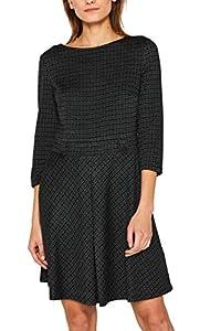 ESPRIT Damen 109Ee1E008 Kleid, Grün (Dark Teal Green 375), Medium (Herstellergröße: M)