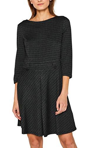ESPRIT Damen 109Ee1E008 Kleid, Grün (Dark Teal Green 375), Small (Herstellergröße: S)