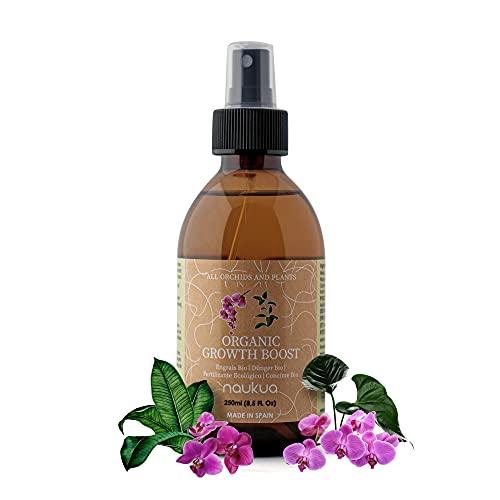 naukua 250ml Abono Líquido Orgánico para Orquídeas - Mayor Vitalidad y Floración - Estimulador Crecimiento y Bioestimulante - Interior y Exterior - Spray Listo para Usar