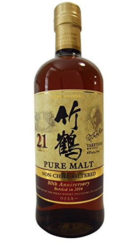 Nikka Taketsuru 21 YO Pure Malt 80th Anniversary Non Chill-filtered Whisky 48% vol. 0,70l