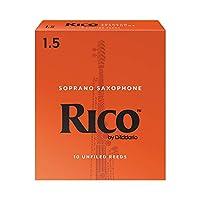 D'Addario Woodwinds/RICO RIA1015 リコ ソプラノサックスリード 10枚入り [1.5]