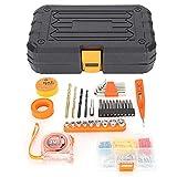 99Pcs / Set Kit de herramientas de reparación básica para el hogar Herramientas manuales de acero al cromo-vanadio Caja de herramientas de reparación