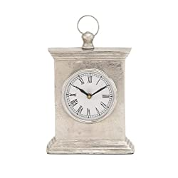 Plutus Brands Antique Styled Aluminum Table Clock
