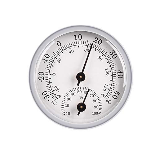 JeoPoom Thermometer Hygrometer Innen Analog, Einfache Ablesbarkeit, Luftfeuchtigkeitsmessgerät und Zimmerthermometer für Eine Zuverlässige und Komfortable Raumklima Kontrolle