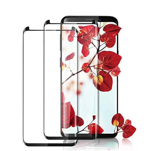 Aonsen, Pellicola Protettiva per Galaxy S9, Copertura Completa, in Vetro temperato per Samsung Galaxy S9, durezza 9H, infrangibile, Senza Bolle, HD, Colore Nero