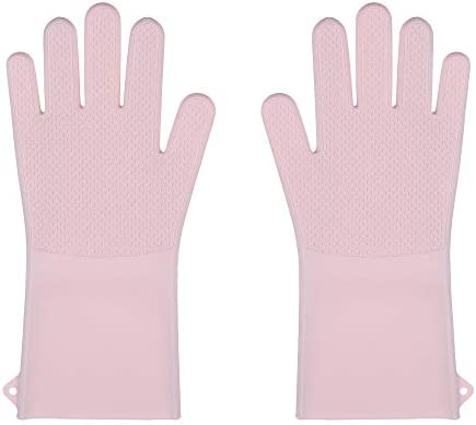 HouHou May Heat resistant long cuff silicone gloves splash proof and scald proof reusable cleaning product image