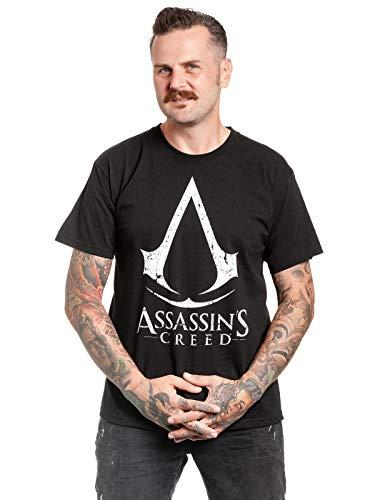 Assassin's Creed Herren T-Shirt Cracked Game Logo Baumwolle schwarz - M