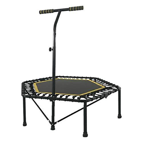 Trampoline voor volwassenen, indoor-indoor-trampoline voor kinderen, met verstelbare armleuningen, elastiek, 48 inch