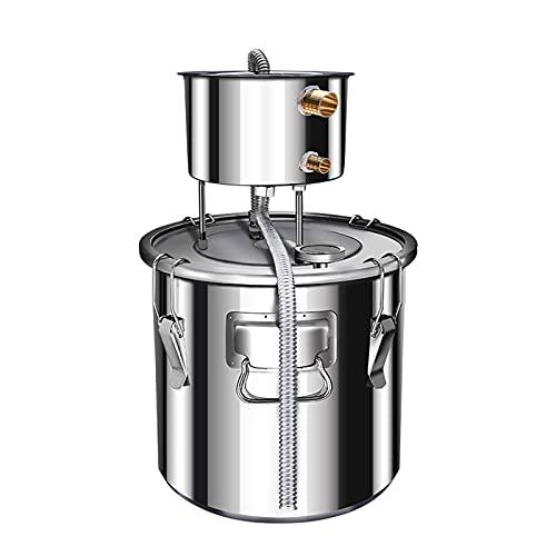 Destilador de Hierbas de Acero Inoxidable 304, máquina extractora de rocío Puro de hidrolato, destilador de Alcohol de Hospital médico Dental para el hogar (Color : 304Stainless Steel, Size : 50L)
