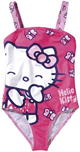 Hello Kitty Kinder Mädchen Badeanzug (Gr. 122/128)