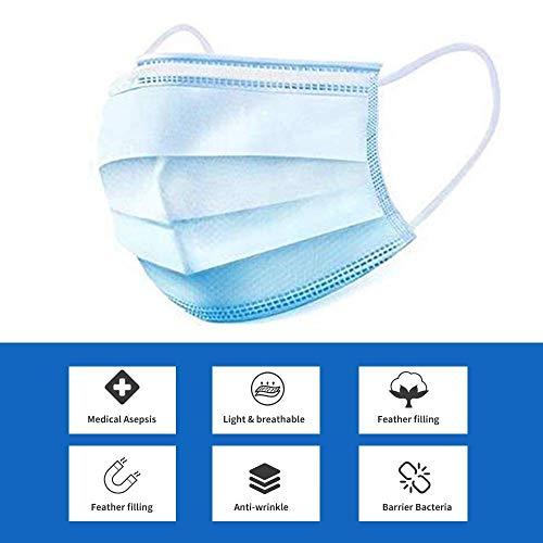 Preisvergleich Produktbild Maske Einweg-Gesichtsmasken,  100st Maske Abdeckung leichte elastische Gurte