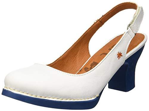 Art Harlem, Zapatos de tacón con Punta Cerrada Mujer, Blanco (White/Jeans White/Jeans), 36 EU